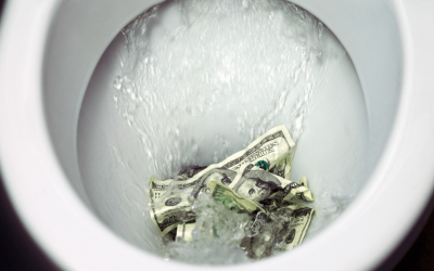 PSA: stop flushing your money down the toilet